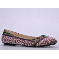 Wholesale Canvas Womens Ballerina Flats , TPR Bow Soft Footwear from china suppliers