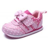 Wholesale Soft Bottom Pink Little Kids Shoes Baby Girl Shoes Breathable EUR 21-25 Size from china suppliers