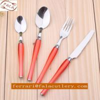 Wholesale 24 Pcs Salmon Pink PP Plastic Handle Cutlery And Tableware from china suppliers