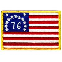 Wholesale American Flag Embroidered Patch Bennington 1776 Iron-On United States from china suppliers