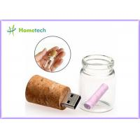 Wholesale Transparent Wood Glass Message In A Bottle Usb Flash Drive 4GB 8GB from china suppliers