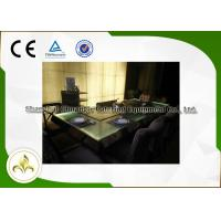Wholesale Green Light Glass Table Commercial Teppanyaki Grill Electric Steel Frame Customized from china suppliers