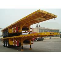 Wholesale Flat-bed Semi Trailer Truck 3 Axles 30-60Tons 13m for Loading Container from china suppliers