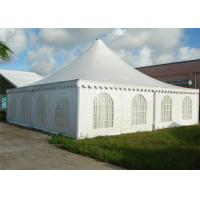 Wholesale High Peak White Pagoda Shade Shelter Canopy With Beautiful Lining Aluminum Frame from china suppliers