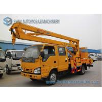 Wholesale ISUZU 600P 130hp High Altitude Operation Truck  , 16M Aerial Platform Truck from china suppliers