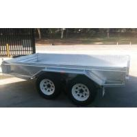 Buy cheap Rolled C / Plate floor 8x5 Hot Dipped Galvanized Tandem Trailer 3200KG from wholesalers