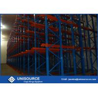 Quality Cold Warehouse Racking System , Unisource Q345 Steel Industrial Storage Shelving for sale