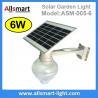 Buy cheap 6W Solar Garden LED Light Solar Mushroom Apple Shape Light LED Street Light With Solar Panel Mount On Lamp Pole Post from wholesalers