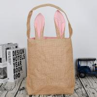 Wholesale heavy-duty easter bunny jute gift tote bags medium capacity custom logo printing from china suppliers