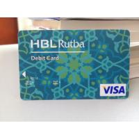 Quality Plastic Debit Card / VISA Smart Card with Secured VISA Hologram Label for sale