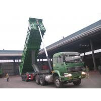 Wholesale Pull Behind Dump Truck Trailer , Semi Gooseneck Dump Flatbed Trailer 40m3 Loading Weight from china suppliers