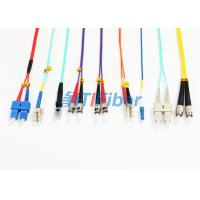Wholesale MU MTRJ Single Mode Patch Cord /  Duplex Multimode Fiber Optic Cable from china suppliers