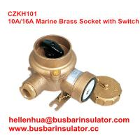 Wholesale 10A/16A marine brass socket with switch CZKH101 electrical connectors IP56 from china suppliers