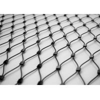 Wholesale Architectural Metal Wire Rope Mesh , Crimped Stainless Steel Cable Netting from china suppliers
