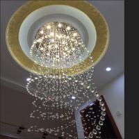 Wholesale D100CM Modern led Spiral Lustre Large Crystal Chandelier Light Fixtures Long Stair Light for Staircase Hotel Foyer Livin from china suppliers