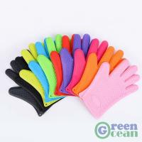 Quality Oven BBQ Grill Cooking Dishwashing and Pot Holder Heat Resistant Silicone Glove Mitt for sale