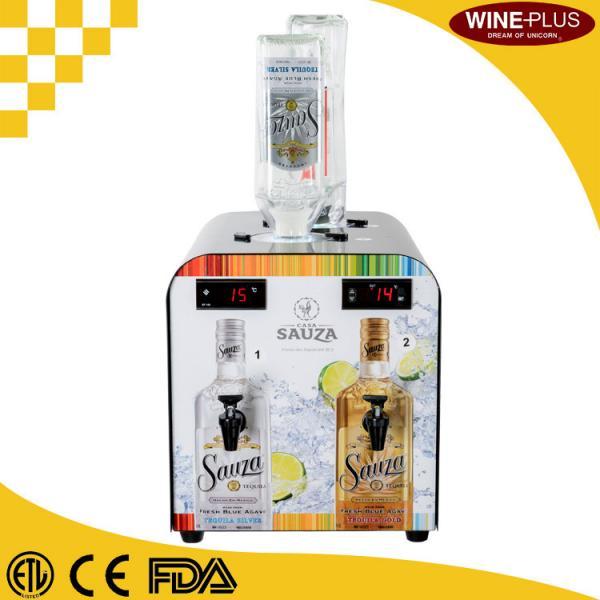 Quality Double Tank Liquor Bottle Shot Dispenser Compressor Cooled For Bars / Restaurants for sale