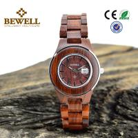 Wholesale Stainless Steel Bezel And Red Sandal Wooden Wrist Watch Japan Miyota 2115 Movement from china suppliers