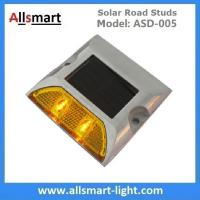 Wholesale Solar Road Stud ASD-005 Single Line 2leds Square Shape Solar Traffic Warning Lights from china suppliers