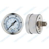 Wholesale Precision 50mm back air pressure gauges dry standard with brass chrome connector from china suppliers