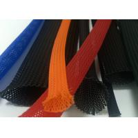 Wholesale Colorful Braided Electrical Wire Wrap Self - Extinguishing With PET Material from china suppliers