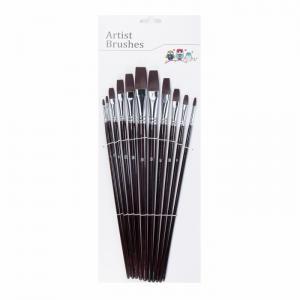 China Nickel Clad Copper Ferrule Nylon Hair Art Paint Brush Set on sale