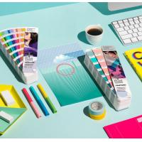 Wholesale 2017 pantone guide set coated and uncoated color card pantone gp1601n pantone colour guide chart solid coated color card from china suppliers