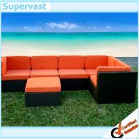 Wholesale 6 Piece Outdoor Wicker Furniture Set Patio Sectional Sofa , Garden Rattan Corner Sofa Set from china suppliers