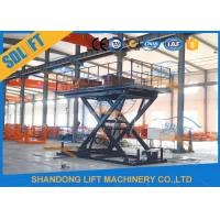 Wholesale 3T 3M Hydraulic Scissor Car Lift , Four Cylinder Car Hoists For Home Garage from china suppliers