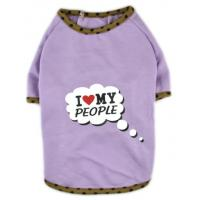 Quality Dog Clothes I Love My People Printed Shirt Dress Cat Puppy Clothes Coat for sale