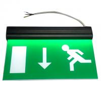 Wholesale Alumium End Cap Battery Powered Rechargeable Double Sided Exit Signs from china suppliers