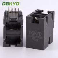 Wholesale 10/100 BASE Stack 2x1 dual port RJ45 female Jack double deck ethernet socket from china suppliers