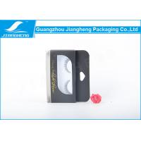 Quality Transparent Black Eyelash Paper Packaging Box With Plastic Inner / Hot Stamping Logo for sale