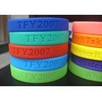 Wholesale 100% Silicone Colourful Debossed Personalized Custom Silicone Wristband / BraceletsFor Adult from china suppliers