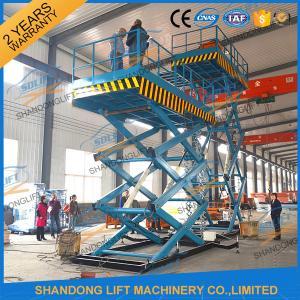 Wholesale 3T 7.6M CE Heavy Load Hydraulic Scissor Lift Fixed Auto Ladder Cargo Scissor Lift from china suppliers