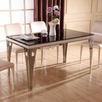 Wholesale 10MM black tempered glass as dining room table top from china suppliers