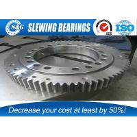 Wholesale Low Noise Excavator Turntable Bearing , Large Diameter Ring Style Turntables Slewing Bearing from china suppliers