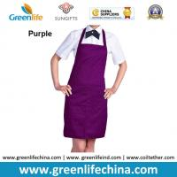 Wholesale Top quality purple apron with front proket custom printing logo for company advertisment from china suppliers
