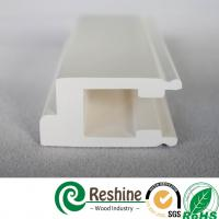 Quality Poly Vinyl solid PVC plantation window shutter components window louver profiles for sale