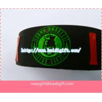 Wholesale embossed wide silicone wristband from china suppliers