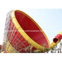 Wholesale Customized Adults Fiberglass Water Park Tornado Slide 14.6m Height , 42*60m from china suppliers
