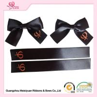 Quality Single Sided Printed Satin Ribbon , Black Polyester Personalized Favor Ribbons for sale