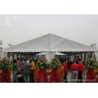 Quality White Ultraviolet Proof Center Gable Pole Custom Event Tents / Outdoor White Event Tents for sale