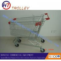 Wholesale 240L Supermarket Shopping Trolleys / Carts Zinc Plate Transport Trolley from china suppliers