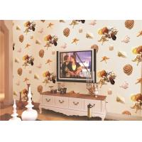 Wholesale Eco Friendly Mediterranean Style Non Woven Wallpaper With Conch / Starfish Printing from china suppliers