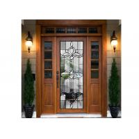 Wholesale PANEL DOOR  Embroidered Glass / Inlay Glass Sheets  beveled clear glass from china suppliers
