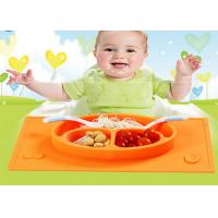 Wholesale Noin Slip Eatting Silicone Baby Feeding Bowl With Placemat Style from china suppliers