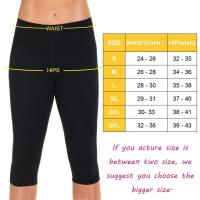 Womens Hot Thermo Slimming Capri Yoga Pants Body Shapers