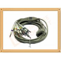 Wholesale 4.0 One Piece Ecg Lead Cable 10 Lead Wires TPU Gray With Defibrillation from china suppliers