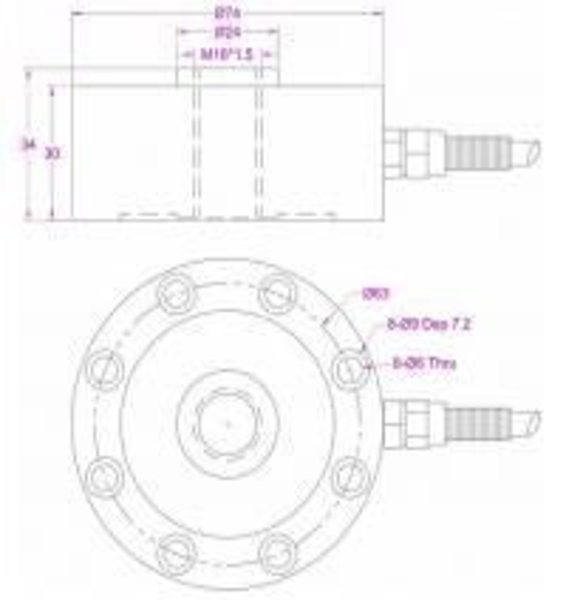 pancake load cell 1kN